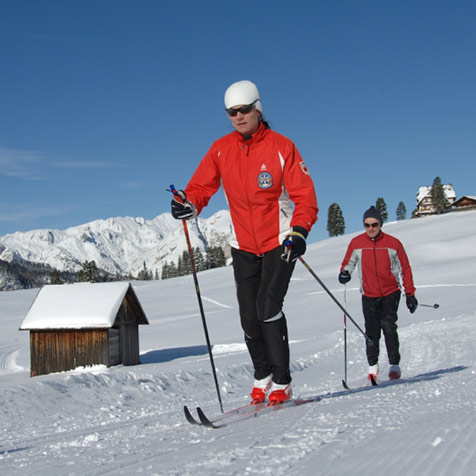 Cross country skiing Hochpustertal Valley