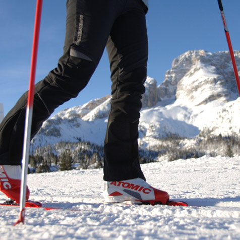 Cross country skiing in Dobbiaco