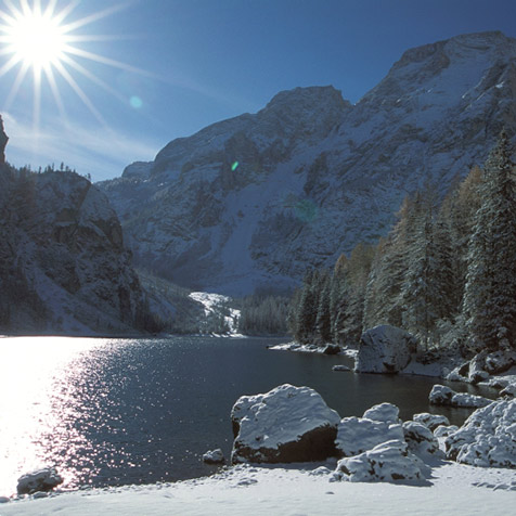 Lake of Braies in winter