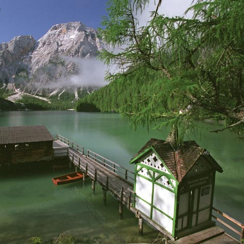 Lake of Braies lake house