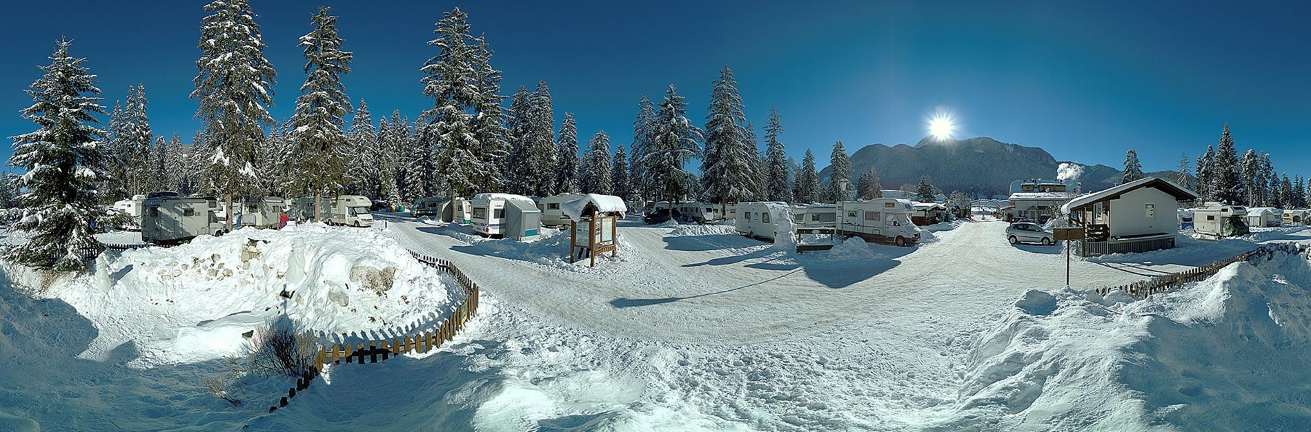 Camping Olympia im Winter